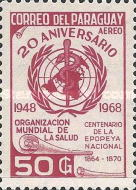 [Airmail - The 20th Anniversary of World Health Organization, Typ AFY1]