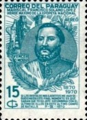 [Airmail - The 100th Anniversary of the Death of Marshal Francisco S. Lopez, 1827-1870, Typ AJW]