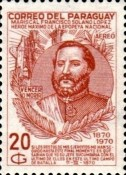 [Airmail - The 100th Anniversary of the Death of Marshal Francisco S. Lopez, 1827-1870, Typ AJW1]