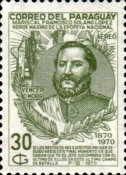 [Airmail - The 100th Anniversary of the Death of Marshal Francisco S. Lopez, 1827-1870, type AJW2]