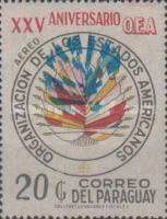 [Airmail - The 25th Anniversary of Organization of American States (O.A.S.), Typ AYJ]