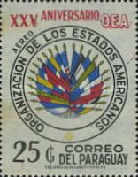 [Airmail - The 25th Anniversary of Organization of American States (O.A.S.), Typ AYJ1]