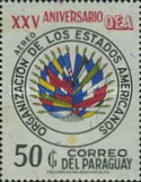 [Airmail - The 25th Anniversary of Organization of American States (O.A.S.), Typ AYJ2]