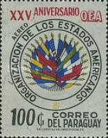 [Airmail - The 25th Anniversary of Organization of American States (O.A.S.), Typ AYJ3]
