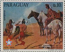 [Airmail - The 200th Anniversary of the Independence of the United States of America - Wild West Paintings, Typ BOM]