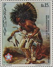[Airmail - The 200th Anniversary of the Independence of the United States of America - Wild West Paintings, Typ BON]