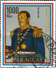 [Airmail - Re-election of General Alfredo Stroessner as President of Paraguay, Typ BXU]