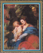 [Airmail - Christmas and Madonna Paintings from the Museum of Art History, Vienna, Typ BZN]