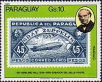 [Airmail - The 100th Anniversary of the Death of Rowland Hill, 1795-1879 - Paraguay Stamps, type CEI]