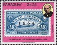 [Airmail - The 100th Anniversary of the Death of Rowland Hill, 1795-1879 - Paraguay Stamps, type CEJ]