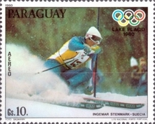 [Airmail - Medal Winners of Winter Olympic Games - Lake Placid, USA, type CET]