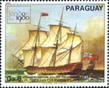[International Stamp Exhibition - Ship Paintings, type CFW]