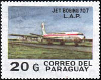 [Inauguration of Paraguayan Airlines Boeing 707 Service, Typ CGA]