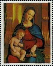 [The 500th Anniversary of the Birth of Raphael, 1483-1520 - Christmas, Typ CPA]