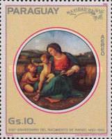 [Airmail - The 500th Anniversary of the Birth of Raphael, 1483-1520 - Christmas, Typ CPS]