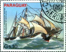 [Airmail - The 25th Anniversary of International Maritime Organization (IMO) and the 490th Anniversaryof the Discovery of America, Typ CTG]