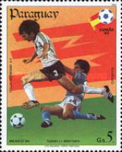 [Airmail - Football World Cup - Spain (1982) and Football World Cup - Mexico (1986), type CVX]