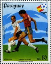 [Airmail - Football World Cup - Spain (1982) and Football World Cup - Mexico (1986), type CVY]