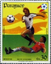 [Airmail - Football World Cup - Spain (1982) and Football World Cup - Mexico (1986), type CVZ]