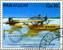 [Airmail - The 50th Anniversary of the First Direct Flight from Europe to South America by Lufthansa, Typ CXN]