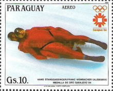 [Airmail - Winners of the Winter Olympic Games - Sarajevo, Bosnia and Herzegovina, Typ CYN]