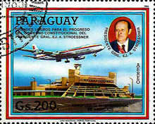 [Airmail - The 50th Anniversary of Peace Treaty of the Chaco War, Typ DCC]