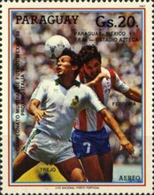 [Airmail - Football World Cup - Mexico 1986, type DHE]