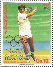 [Airmail - Tennis as an Olympic Sport at the Summer Olympic Games in 1988, Seoul, type DHJ]