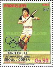 [Airmail - Tennis as an Olympic Sport at the Summer Olympic Games in 1988, Seoul, type DHJ1]