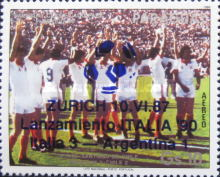 [Airmail - Advertising for the 1990 Football World Cup in Italy, type DKG]