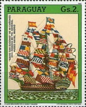 [The 500th Anniversary of the Discovery of America - Sailing Ships, type DKM]