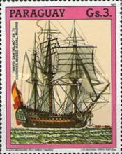 [The 500th Anniversary of the Discovery of America - Sailing Ships, type DKN]