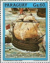 [The 500th Anniversary of the Discovery of America - Sailing Ships, type DKP]