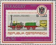 [Airmail - The 150th Anniversary of Railroad in Austria, Typ DLM]