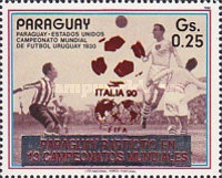 [Paraguay's Participation in Previous Football World Cup Finals - Overprinted, Typ DSO]
