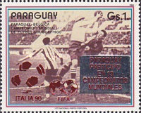 [Paraguay's Participation in Previous Football World Cup Finals - Overprinted, Typ DSQ]