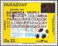 [Airmail - Paraguay's Participation in Previous Football World Cup Finals - Overprinted, Typ DSU]