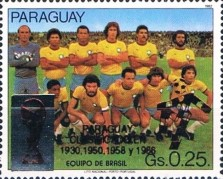 [Football World Cup - Italy - Paraguay's Participation in Previous Finals, Typ DSW]