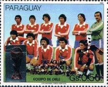 [Football World Cup - Italy - Paraguay's Participation in Previous Finals, Typ DSW1]