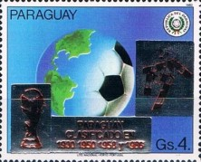 [Football World Cup - Italy - Paraguay's Participation in Previous Finals, Typ DSW5]