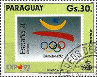 [Airmail - The 500th Anniversary of the Discovery of America - Olympic Games - Barcelona, Spain - World Exhibition