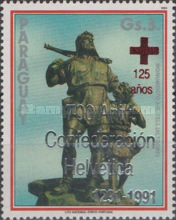 [Airmail - The 700th Anniversary of Swiss Confederation - The 125th Anniversary of Red Cross, type DXS]