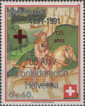 [Airmail - The 700th Anniversary of Swiss Confederation - The 125th Anniversary of Red Cross, type DXS2]