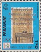[Participation of a United Germany at the 1992 Olympic Games in Barcelona - The 200th Anniversary of the Brandenburg Gate, type DYC]