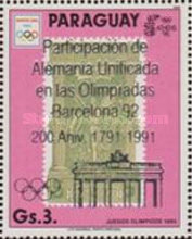 [Participation of a United Germany at the 1992 Olympic Games in Barcelona - The 200th Anniversary of the Brandenburg Gate, type DYE]