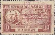 [The 50th Anniversary of USA President Hayes's Decision to award Northern Chaco to Paraguay, type EI1]