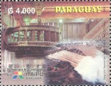 [The 30th Anniversary of Brazilian-Paraguayan Hydroelectric Power Station, Itaipu, Typ EOE]