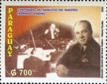 [The 100th Anniversary of the Birth of Herminio Gimenez, 1905-1991, Typ EOL]