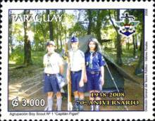 [The 70th Anniversary of Boy Scouts Association in Paraguay, Typ ESH]