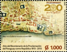 [The 200th Anniversary of the Proclamation of Paraguay as Republi, Typ EYL]